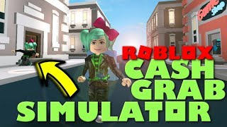 I am IN this game! Roblox Cash Grab Simulator! SallyGreenGamer Geegee92 Family Friendly