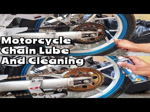 How I Clean and Lube My Motorcycle Chain
