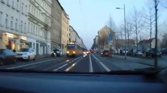 Russischer Leipzig. Mitfahrt vom Friedrich-List-Platz zum Torgauer Platz.