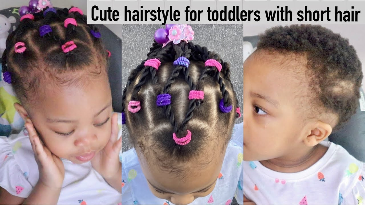 Cute Protective Hairstyle For Short Natural Hair Toddlers Braids Twist For Short 4c Hair Youtube