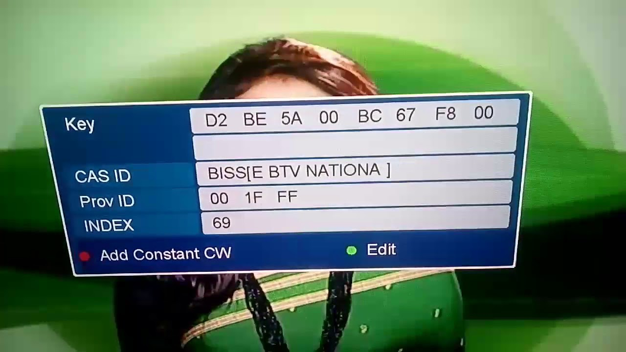 Biss key for btv national
