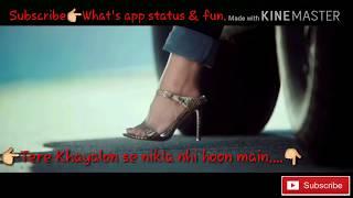 Tere Khayalon se nikla nhi hoon main. Whats app status.