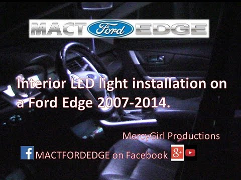 Interior LED Light Upgrade Ford Edge 2007 2014
