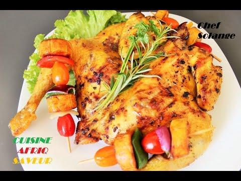 cuisine-africaine-poulet-braisé---brochettes-de-plantains