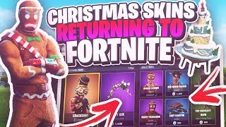 CHRISTMAS SEASON 2 SKINS RETURNING TO FORTNITE CONFIRMED?! 😱 (Fortnite Battle Royale)