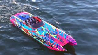 Traxxas M41 Catamaran vs Spartan Round Two, FPV GPS Run & Flip!