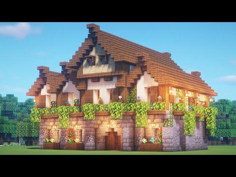 Большой красивый деревенский дом в майнкрафте