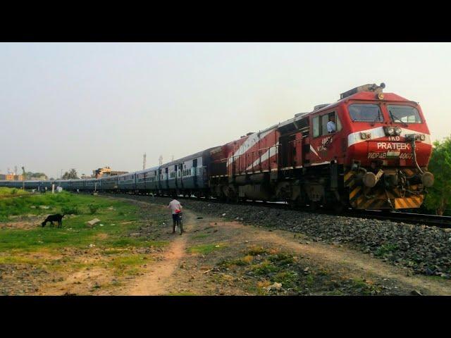 Prateek Wdp4b with Shaheed exp departing Samastipur jn