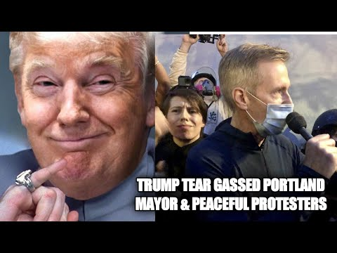 Portland Mayor Tear-Gassed With Peaceful Protesters