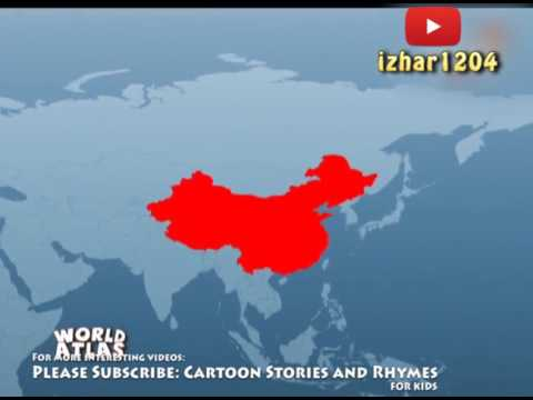cartoon stories for kids geography world map for kids learn 6 continents in urdu