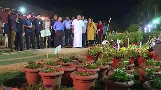 CM visit Flower Show - 2018