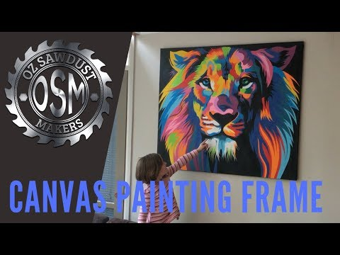 DIY Timber Frame for Canvas Painting - How To