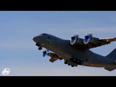 Демонстраційний політ літака АН-70/Demoflight of AN-70