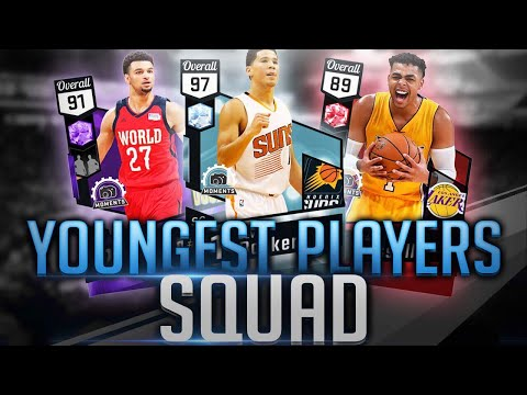 YOUNGEST PLAYERS AT EACH POSITION SQUAD BUILDER! NBA 2K17