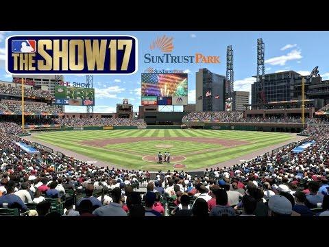 MLB The Show 17 Atlanta Braves vs New York Mets Gameplay SunTrust Park Full Game MLB Network MLB 17