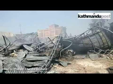 Massive fire engulfs Yeti Carpet factory in Bhaktapur
