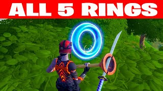 Collect Floating Rings at Weeping Woods Fortnite