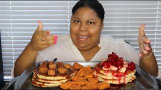 IHOP Pancakes & Wendy's Spicy Nuggets - It's Mukbang Time!!!