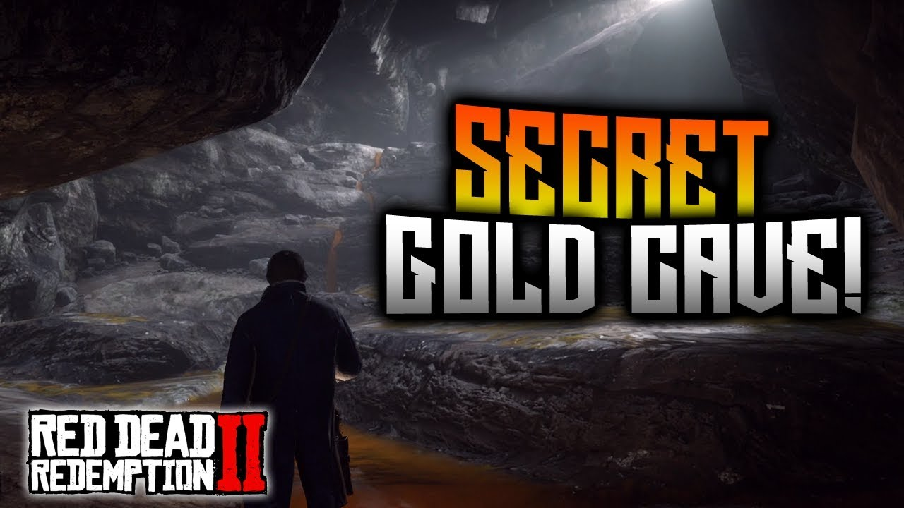Red Dead Redemption 2 - SECRET Gold Cave Treasure Map! BIG Reward ...