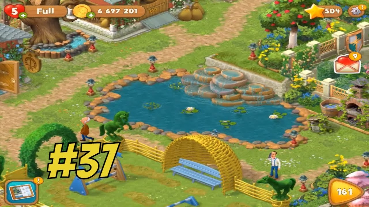 High Quality GARDENSCAPES NEW ACRES #37 Gameplay Story Playthrough | Area 8 Stable Area  Day 4