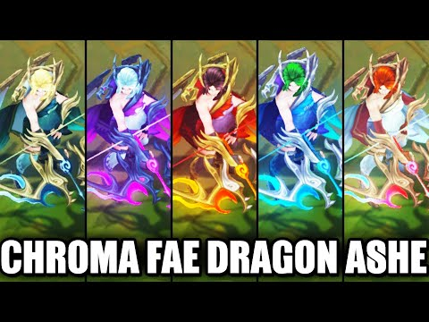 All Fae Dragon Ashe Chroma Skins Spotlight (League of Legends)