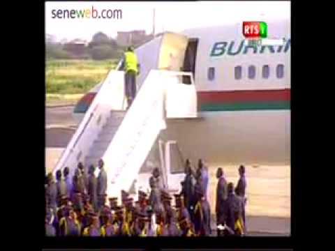 Sommet extraordinaire de la Cedeao à Dakar Arrivée du president Blaise  Compaoré