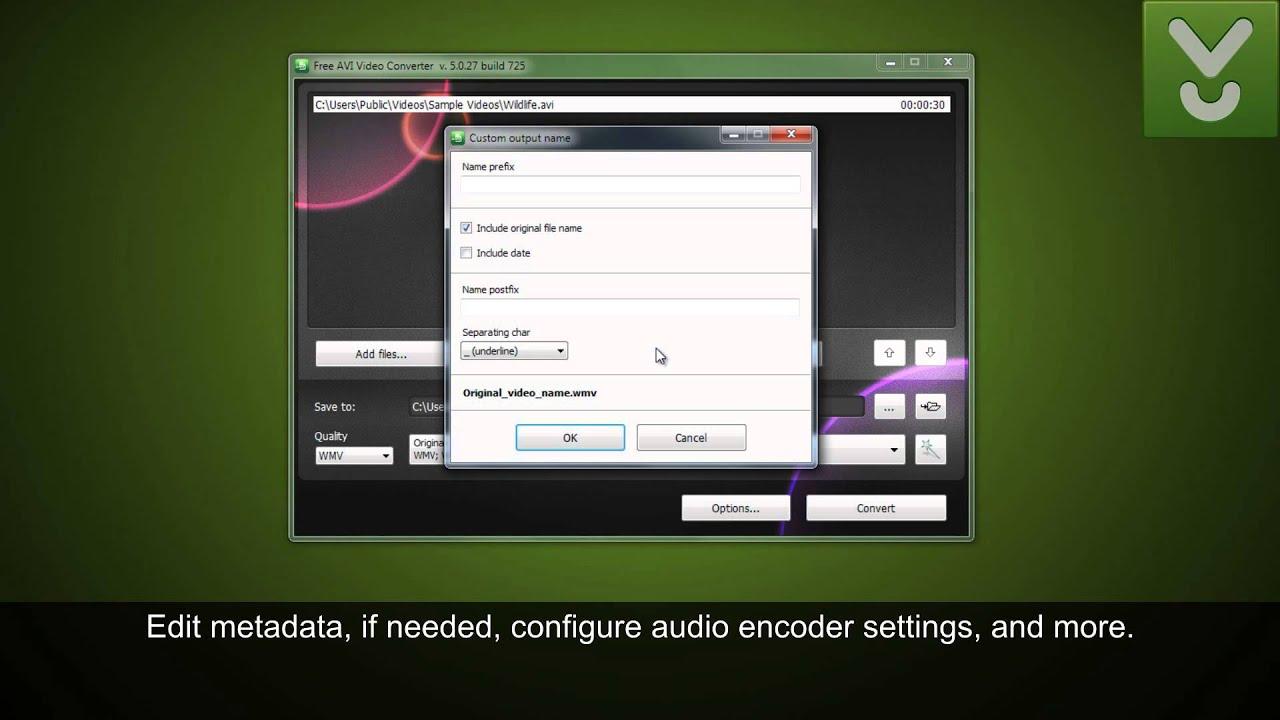 avi video converter software free download full version