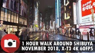 1 hour walk in Shibuya, Tokyo - November 2018 - 4K - 60FPS