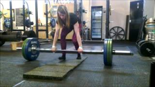 Gina Collins- 100kg Ascending Deadlift Staircase (u65kg Bodyweight)