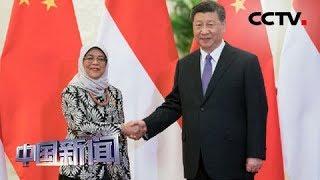 [中国新闻] 习近平会见新加坡总统哈莉玛 | CCTV中文国际