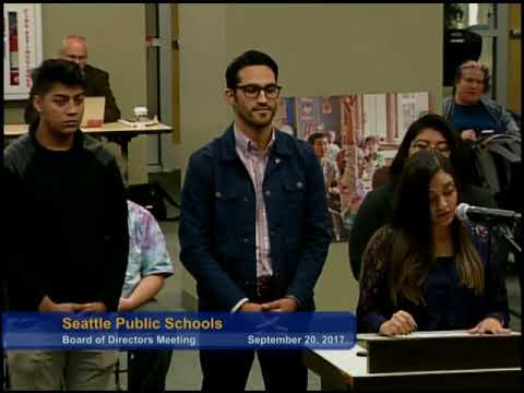 Part 1 Seattle School Board Meeting Sept. 20, 2017 - YouTube