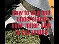 How to use and understand your miter saw to cut angles