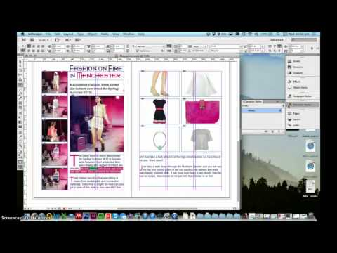 InDesign Tutorial: 2 Page Magazine Spread| Fashion Works at Manchester