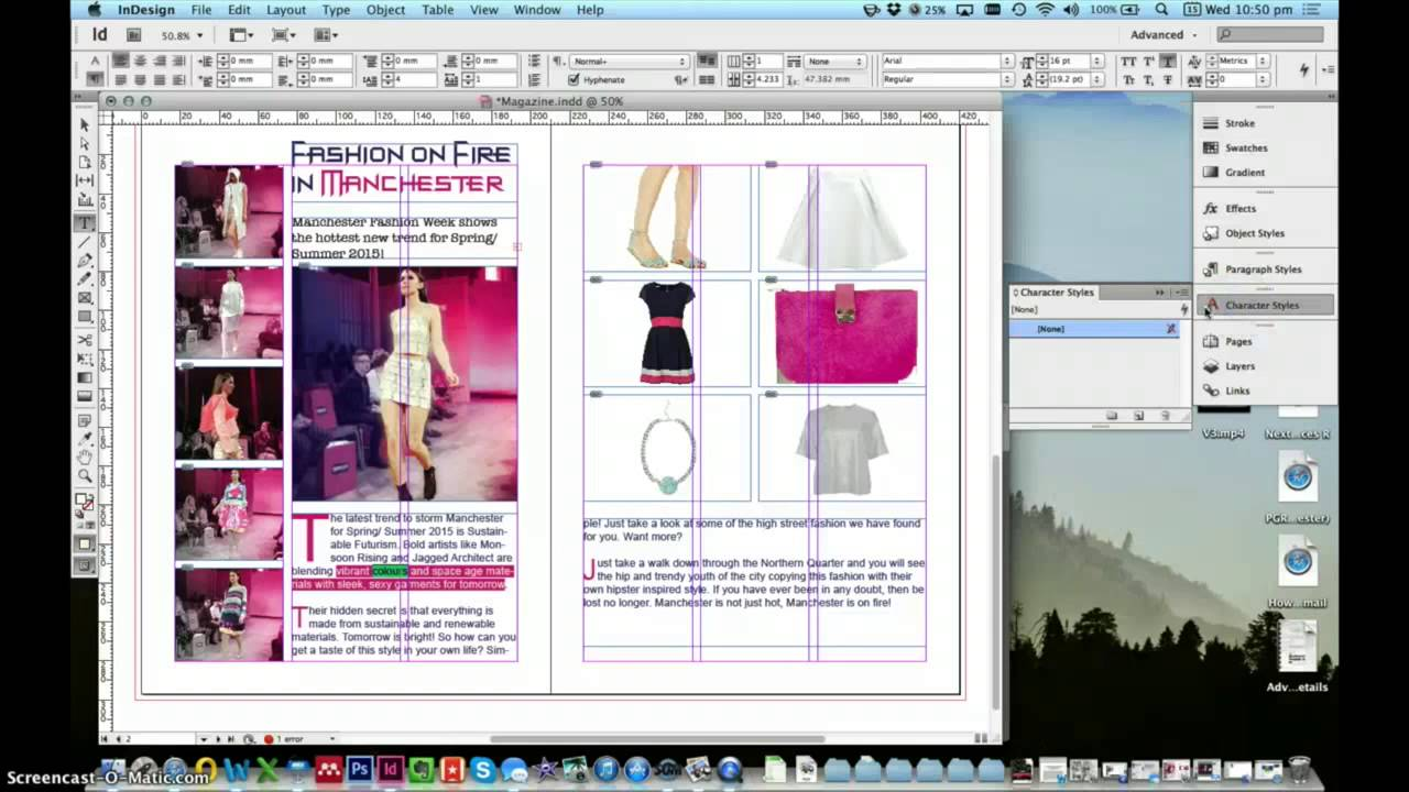 how to get text not to bleed in indesign