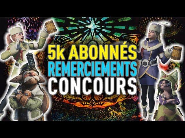 MERCI + Concours 5 000 abonnés !!!