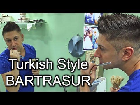 Türkische Bartrasur mit Rasiermesser beim Meister Barbier. Zadiel lässt sich beim Friseur rasieren!