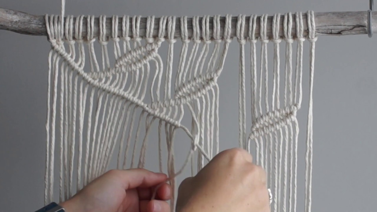 DIY Macrame Wall Hanging Leaf Pattern  YouTube
