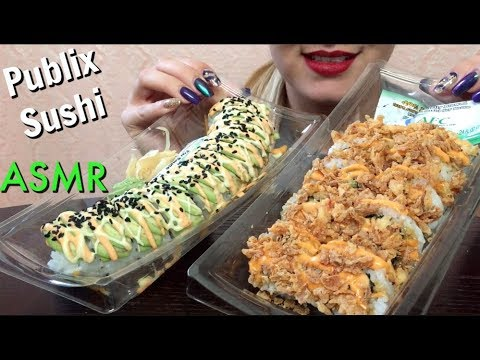 Asmr Publix Sushi No Talking Eating Show Eatwithjas91 Youtube