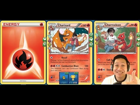 "1 Energy ""Recall"" Charizard Rush Deck, No Ex, 190 Hp, 300+ Instant Kill Damage"