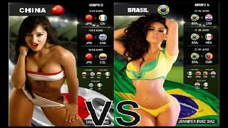 KADINLAR FİFA 16 - ÇİN vs BREZİLYA - SEXY MATİNE