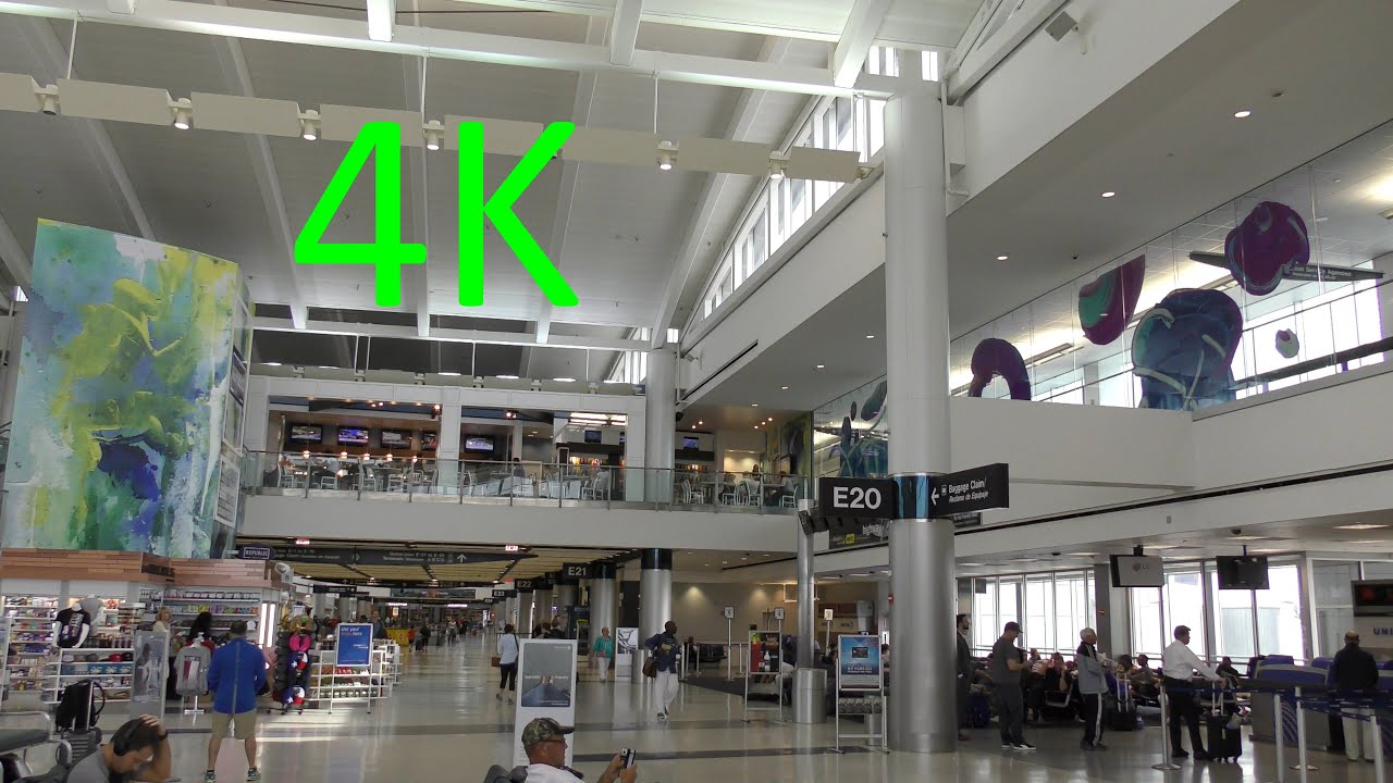 A 4k Tour Of Houston S George Bush Intercontinental Airport Iah