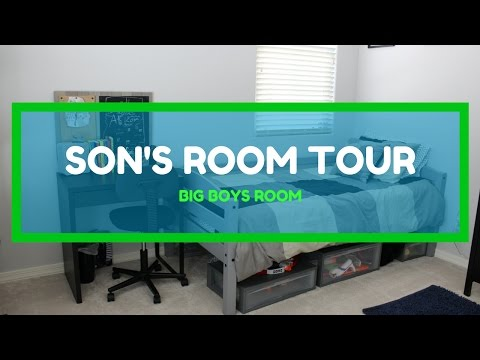 SON'S ROOM TOUR | MY 10 YEAR OLD BOYS ROOM | PRE TEEN ROOM