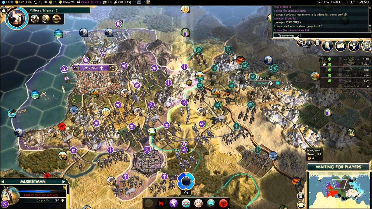 Civilization 5 Multiplayer Strategies