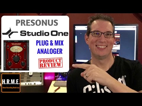 Presonus Studio One & Plug & Mix Analogger - Plugin