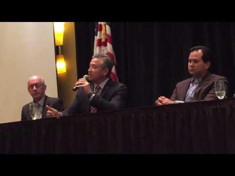 PSRAR 2017 President, Lucio Bernal speaking on the Palm Springs Vacation Rental Ordinance