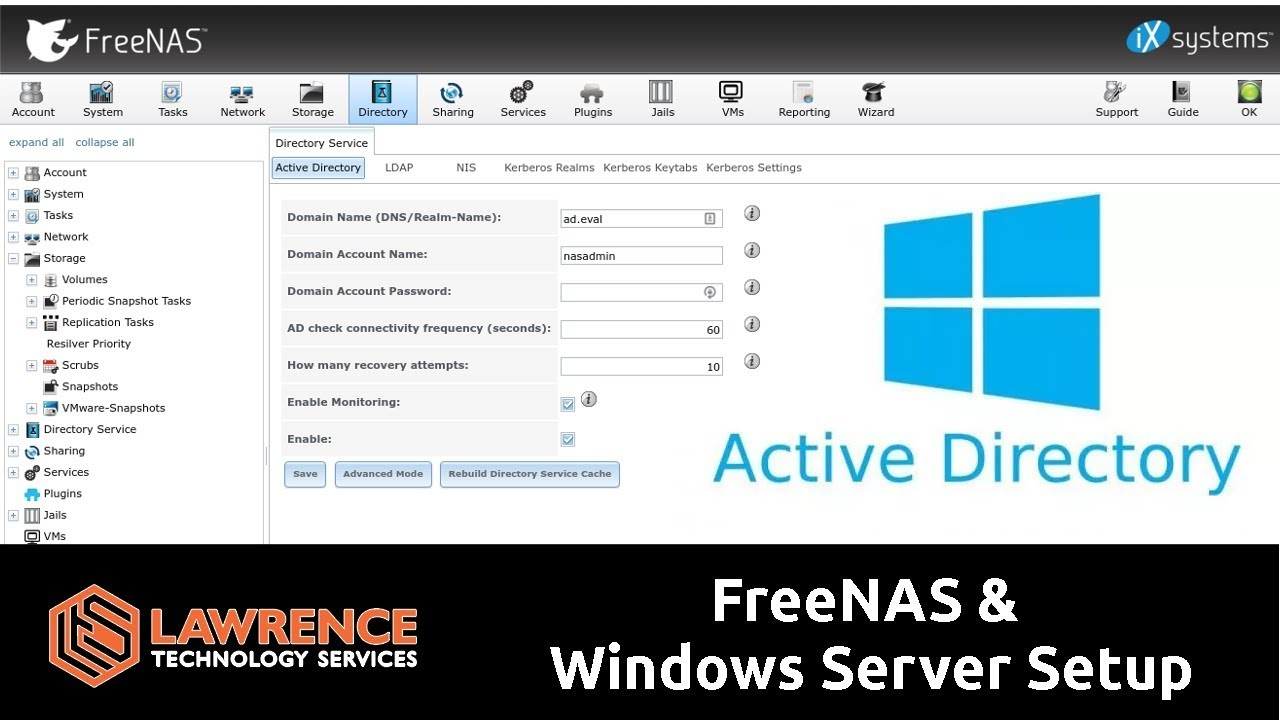How To Setup FreeNAS 11 1 With Active Directory & Windows Server 2016
