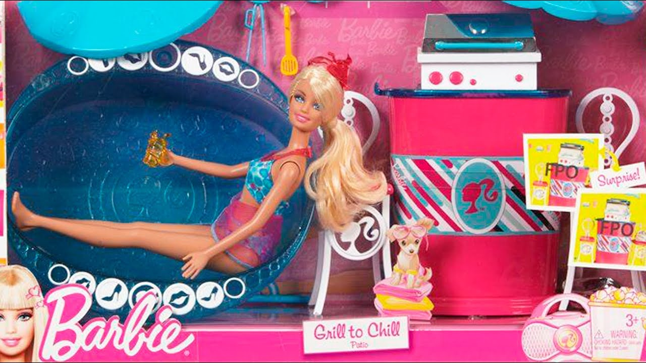 Barbie Grill To Chill Deluxe Patio And Doll Set Basenowe Party Www Megadyskont Pl You