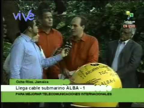 Cable de fibra óptica Alba 1 llegó a Jamaica parte 2