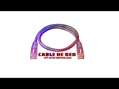Video de Cable de red UTP CAT5E 5 M Azul