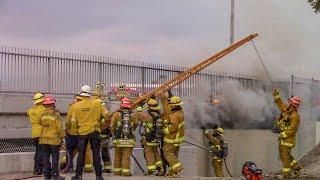 LACo.FD On Scene of Homeless Encampment Fire - Covina / Battalion 16
